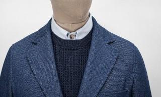 S.E.H Kelly Herringbone Twill Indigo Cotton SB1 Jacket