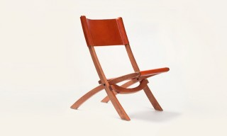The Beautiful Nokori Mahogany & Leather Folding Chair From Tanner Goods
