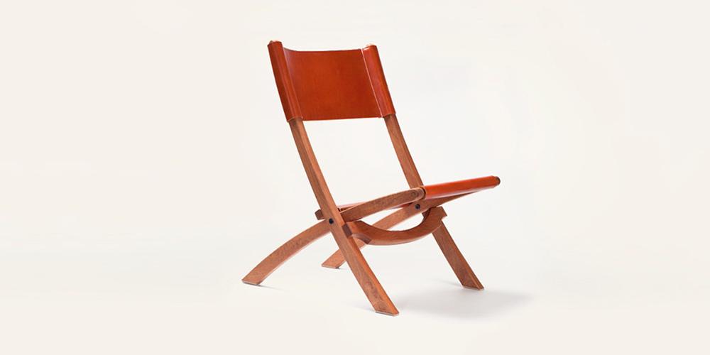 Tanner Goods Nokori Mahogany & Leather Folding Chair
