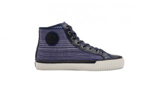 The Indigo Twill Center Hi Sneaker From PF Flyers
