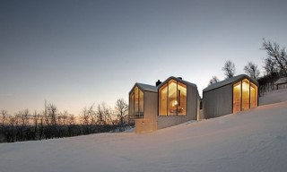 See the Timber Split View Mountain Lodge in Norway