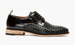 Basket Woven Derby Shoe by AMI Paris