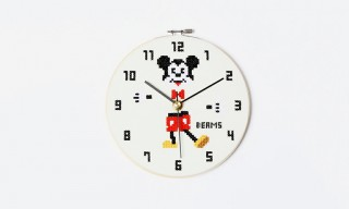 BEAMS Create Oddball Embroidery Wall Clocks With Disney