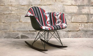 Custom Pendleton Eames Rocking Chair