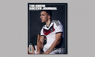 Arsenal Forward Lukas Podolski For The Green Soccer Journal Issue 6