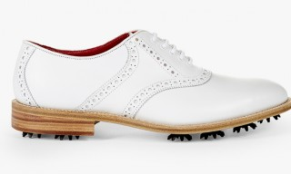 Tricker's Create Clean White Golf Brogue for Wolsey