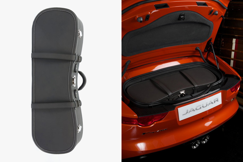 Bespoke Moynat Luggage for Jaguar F Type Convertible