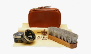 The Alden Shoe Care Kit – A Calfskin Travel Bag Containing all the Essentials