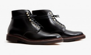 Alden Create the Smart Walter Boot in Black Shell Cordovan for Leffot