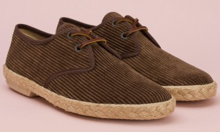Oi Polloi Produce Corduroy Summer Espadrilles with Veras – 3 Colors