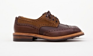 "Tricker's Create the Limited Edition ""Crazy Derby Brogue"" with Superdenim"