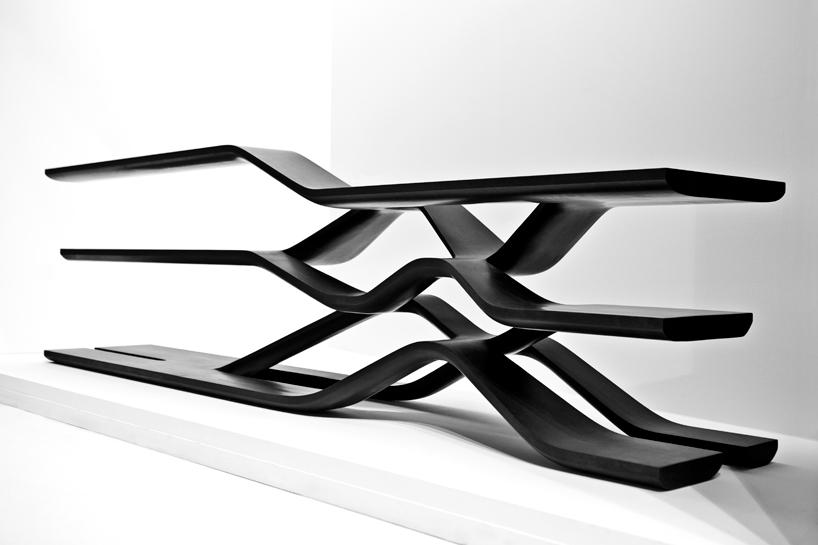 Zaha Hadid Premiers New Marble Works at Milan Design Week  : Zaha Hadid Citco Furniture 10 from selectism.com size 818 x 545 jpeg 129kB