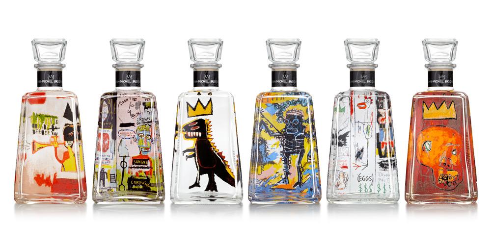 Jean-Michel Basquiat for 1800 Tequila Bottles 2014