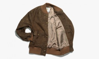 Golden Bear for Freemans Sporting Club Exclusive Lamb Suede Varsity Jacket