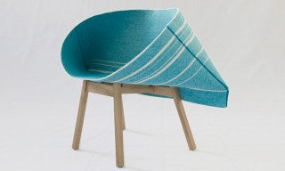 Kenny Folded Fabric Armchair for Moroso