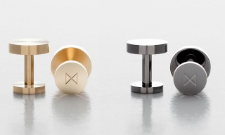 Minimalux Contemporary Cufflinks in Brass & Nickel