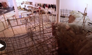 Watch Artist Henrique Oliveira Create His Largest Work to Date