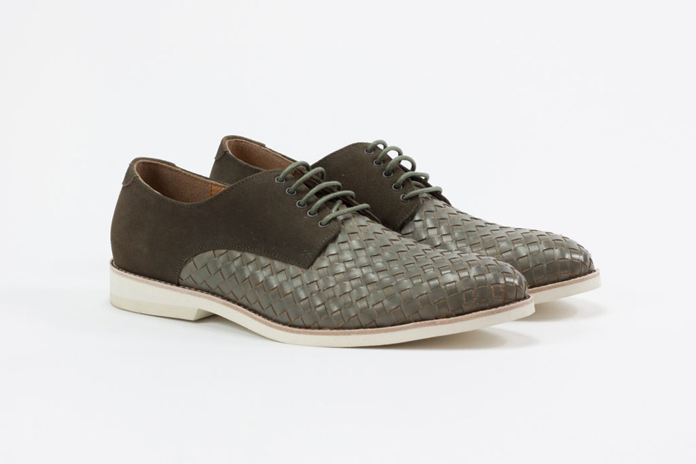 Amsterdam Shoe Co. Woven Leather Lace Up