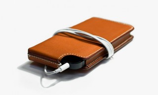 Moynat Handmade Barenia Leather Virage iPhone Case