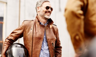 Schott NYC for Context Clothing Horween Leather Motorcycle Jacket