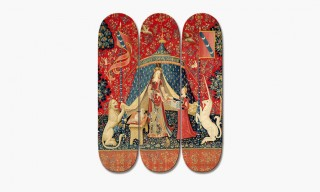 """""""The Lady and the Unicorn"""" Skateboard Deck Panel Art"""