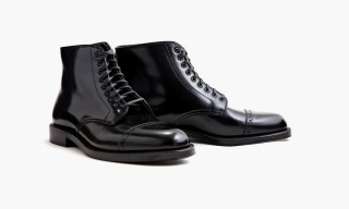 Alden Join Leffot for the All-Black Shell Cordovan Naval Boot