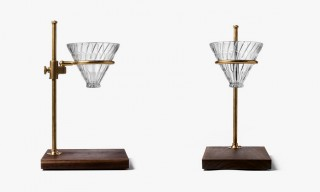 A Beautiful Brass & Walnut Pour-Over Coffee Brewer