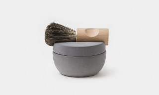 A Beautiful Minimal Concrete & Wood Shaving Set from Iris Hantverk