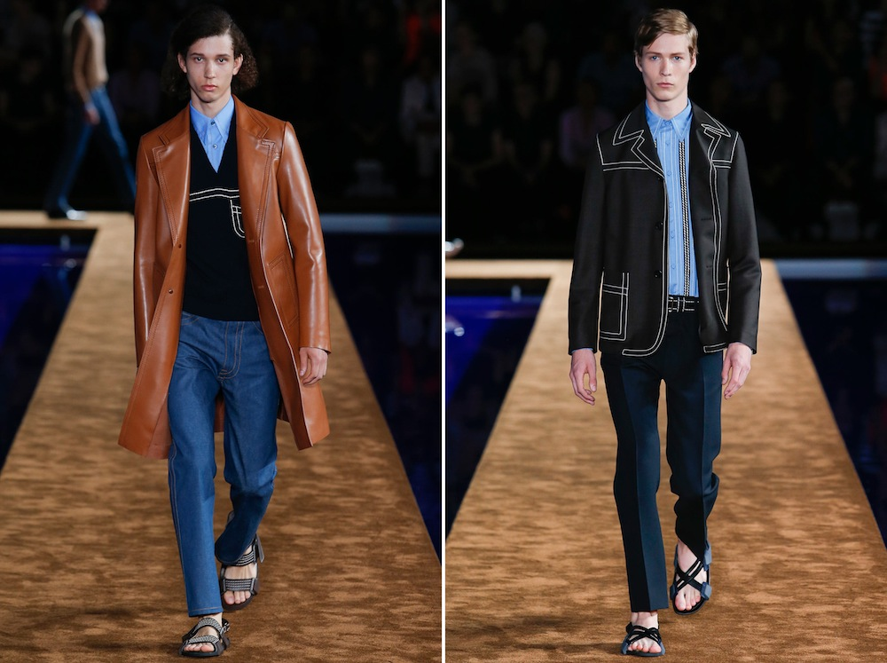 In Motion   A Decidedly Plain Prada for Spring/Summer 2015