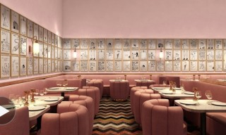 Cartoonist David Shrigley Turns London's Sketch Restaurant Pink