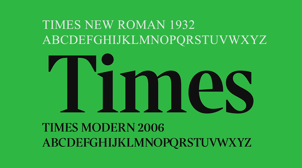 A Short History of Times New Roman Typeface