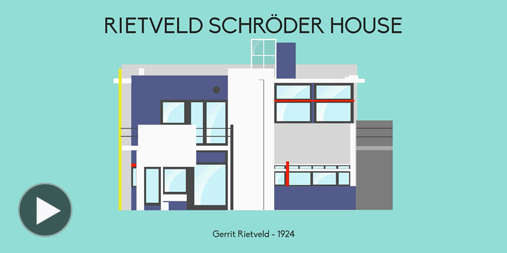 Watch Iconic Houses Video Illustrated by Matteo Muci