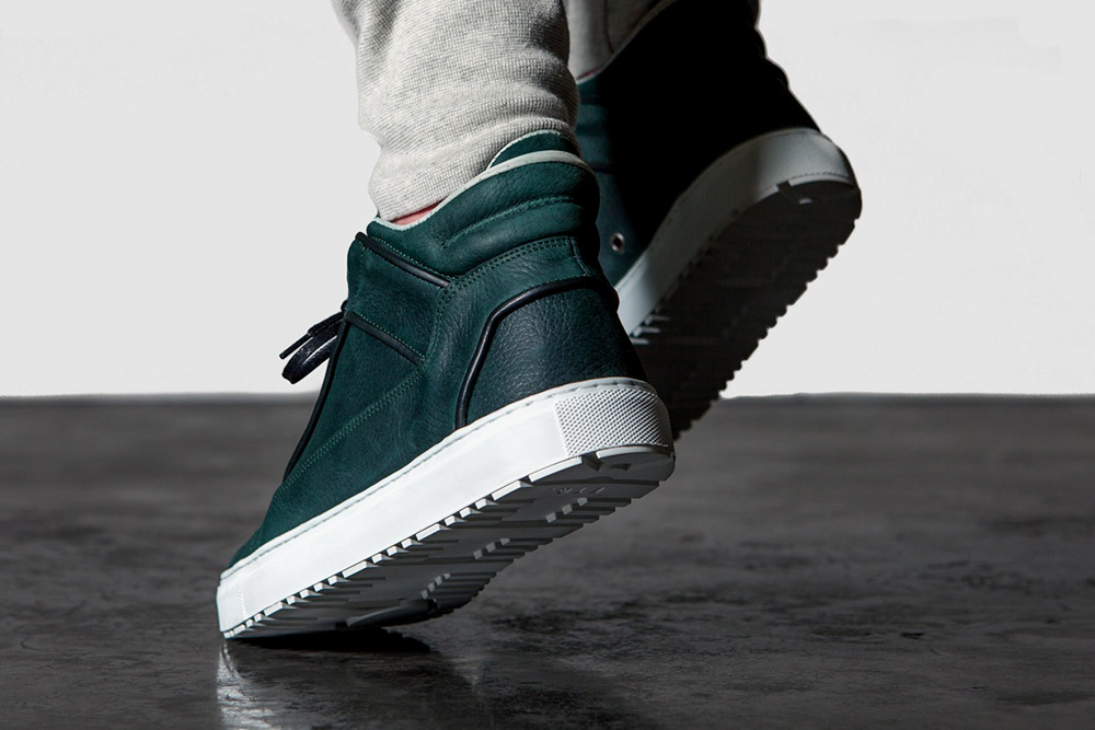 ETQ Amsterdam Leather Mid Top Sneakers