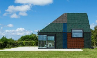 See the Color-Blocked Fishing Nets Holiday House in the Netherlands