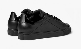 Mr Hare All-Black Cunningham Italian Leather Sneaker Exclusively for Mr.Porter