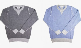 Merino Wool Double V-Stitch Sweaters from Drake's of London