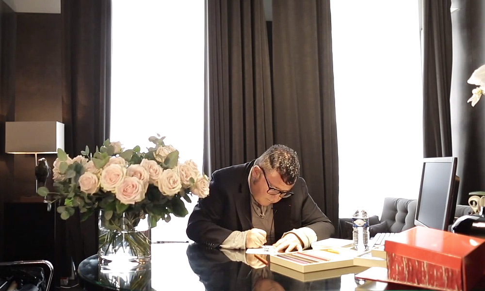 Inside the Parisian Studio of Lanvins Alber Elbaz with The New York Times