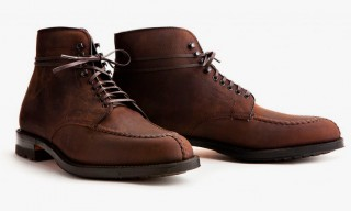 Alden Create an Oiled Chamois Leather Tanker Boot for Leffot