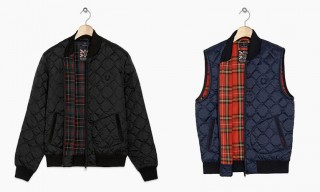 Quilted Bomber Jackets and Gilets by Lavenham for Fred Perry