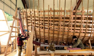 See How Master Shipwrights Handcraft Boats with Filson Workwear