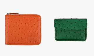 Headporter Leather Ostrich Wallets in Bright Shades