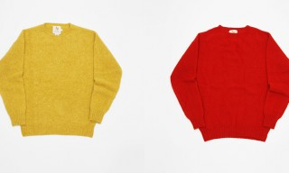 Shaggy Knit Crew-Neck Sweaters in Every Shade from William Fox