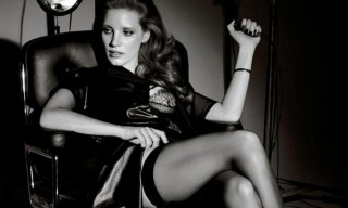 Jessica Chastain in Givenchy and La Perla for Interview Magazine's 45th Anniversary