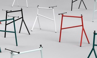Mark Braun Designs the Adjustable Steel m01 Table Trestle for Thonet