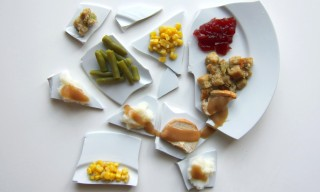 Mark Rothko, Georges Seurat and Andy Warhol as Thanksgiving Food