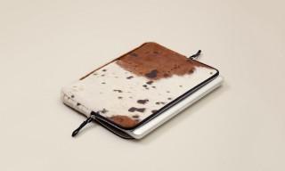 Unique Ackermann Leather Cattle Hide Device & Laptop Cases