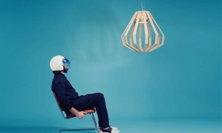 See the NASA-Inspired Apollo 8 Conical Light by Woodlabo