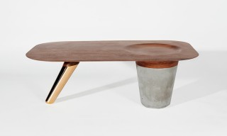 The Contemporary Concrete & Copper CS1 Table from Astfrei