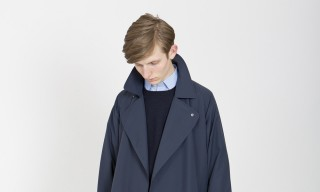 E.Tautz Navy Outerwear Options for Rainy Days