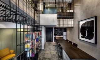 Inside the Singapore Loft Connected By a Cage